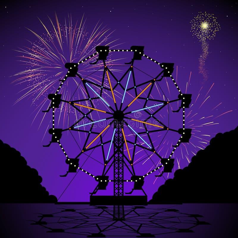 Free Ferris Wheel At Night Royalty Free Stock Images - 19800529