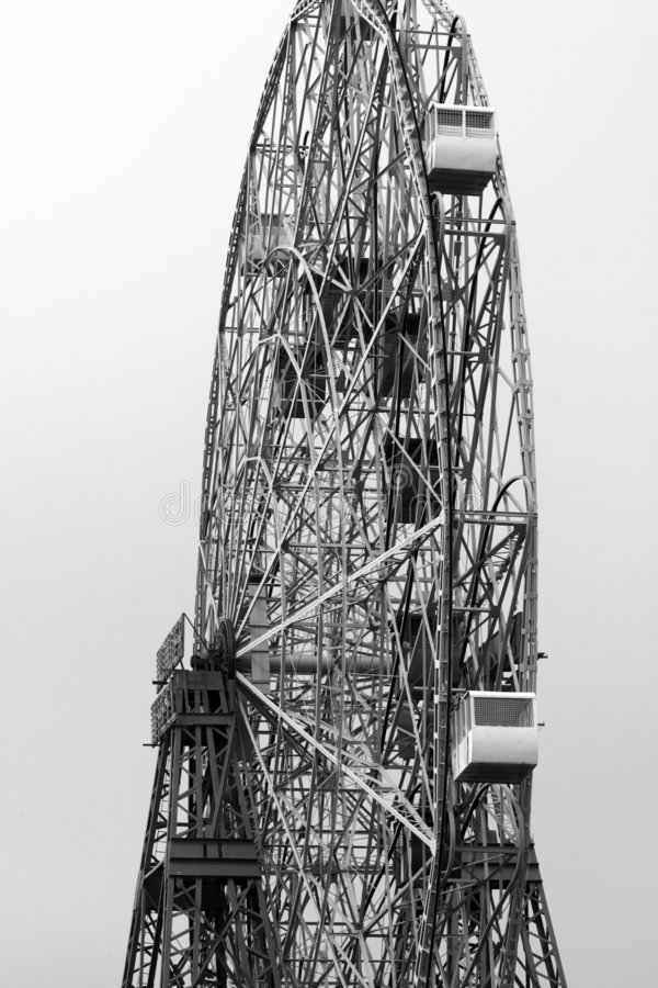 Download Ferris Wheel B&W stock photo. Image of fairgrounds, wheel - 173648