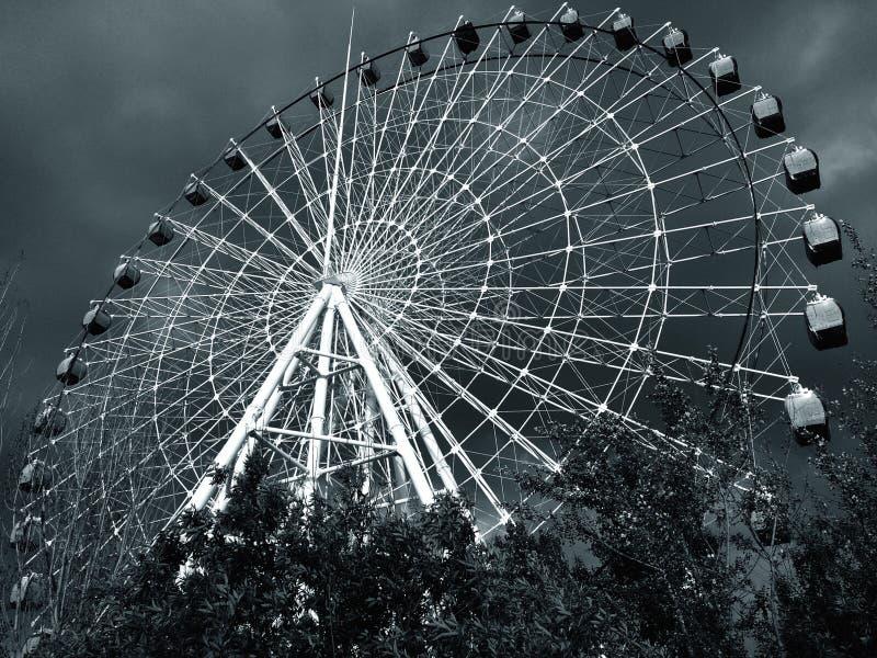 Ferris Wheel in black and white