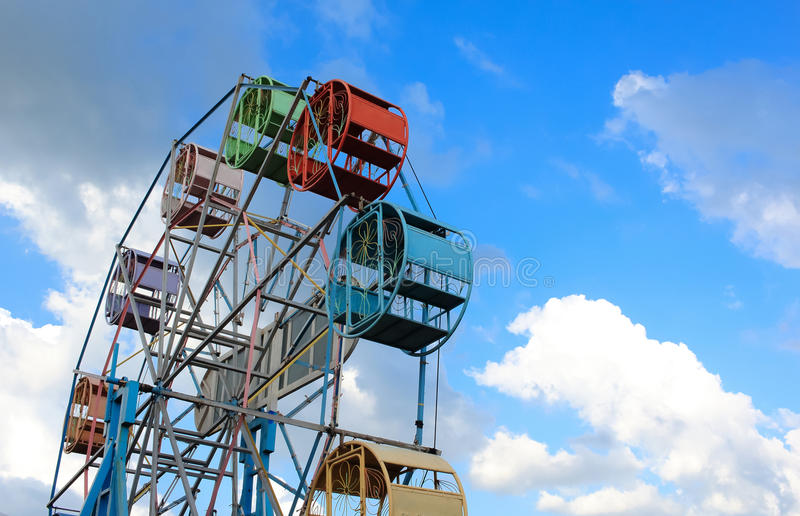 Ferris Wheel With Blue Sky In The Background royalty free stock photo