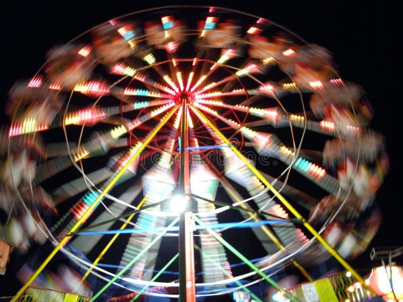 Ferris wheel, blured natural royalty free stock photos