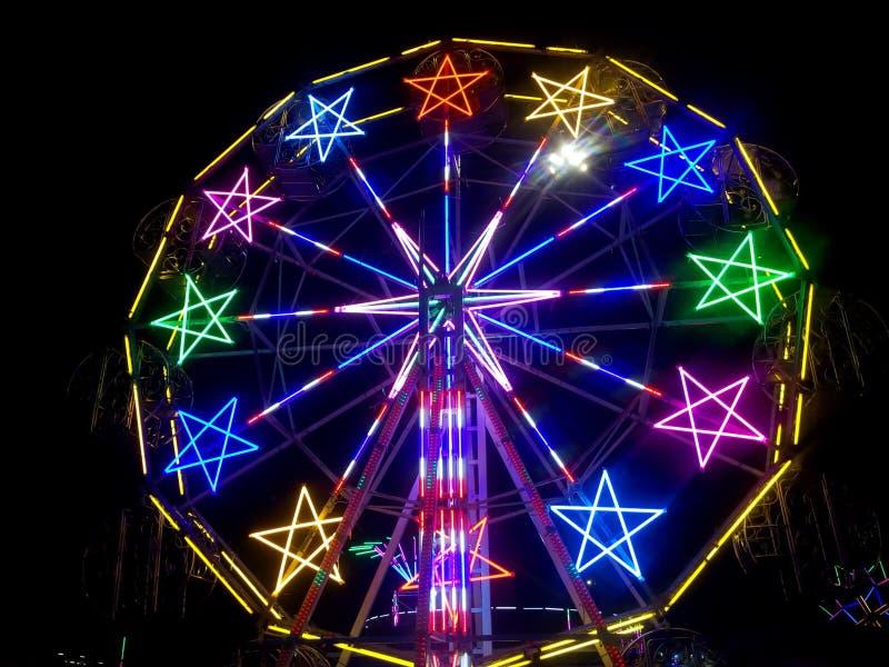 Ferris wheel, Buddha festival, Samutprakarn ,Thailand. Color full and beautiful Ferris wheel, Buddha festival, Samutprakarn ,Thailand royalty free stock photo