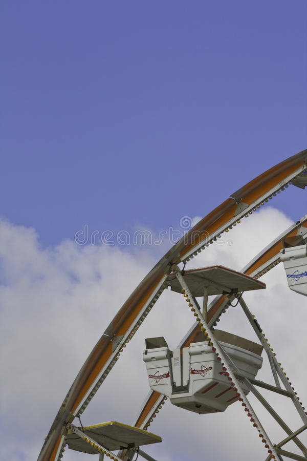 Download Ferris Wheel Car Against A Blue And White Sky Royalty Free Stock Photo - Image: 10806055