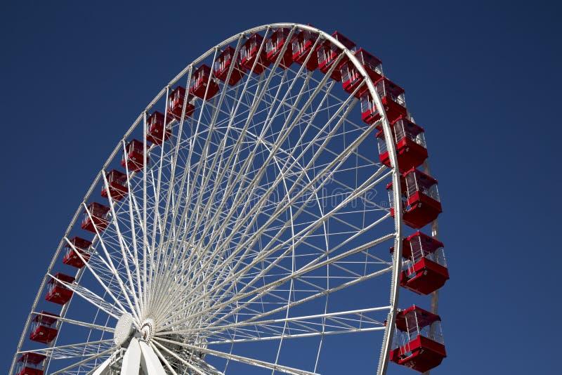 Ferris Wheel at Carnival Fair on Navy Pier Chicago royalty free stock photos