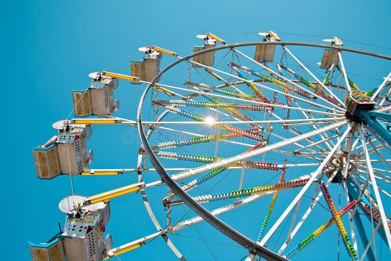 Ferris Wheel in Clear Blue Sky stock image
