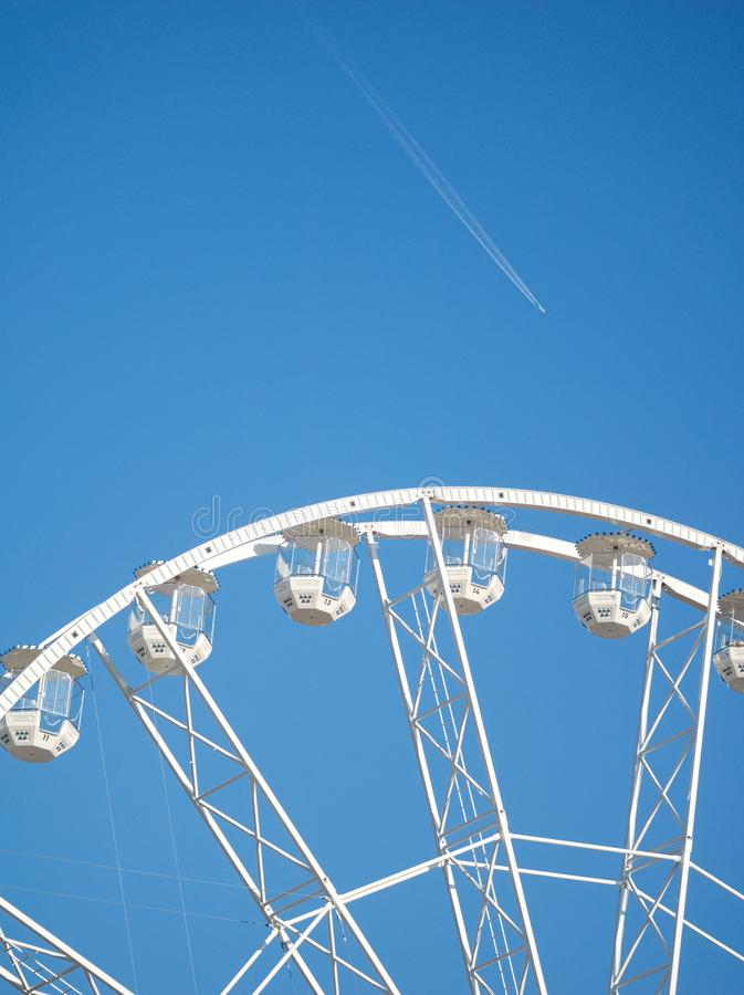 Ferris Wheel Closeup em Gy?r, Hungria fotos de stock royalty free