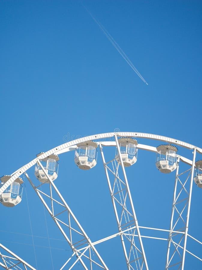 Ferris Wheel Closeup i Győr, Ungern royaltyfria foton