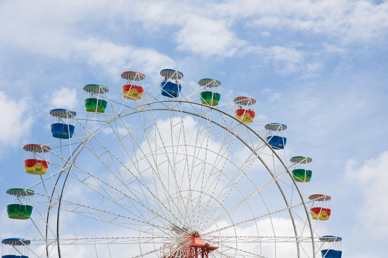 Download Ferris Wheel With Clouds And Blue Sky Stock Image - Image: 12301071