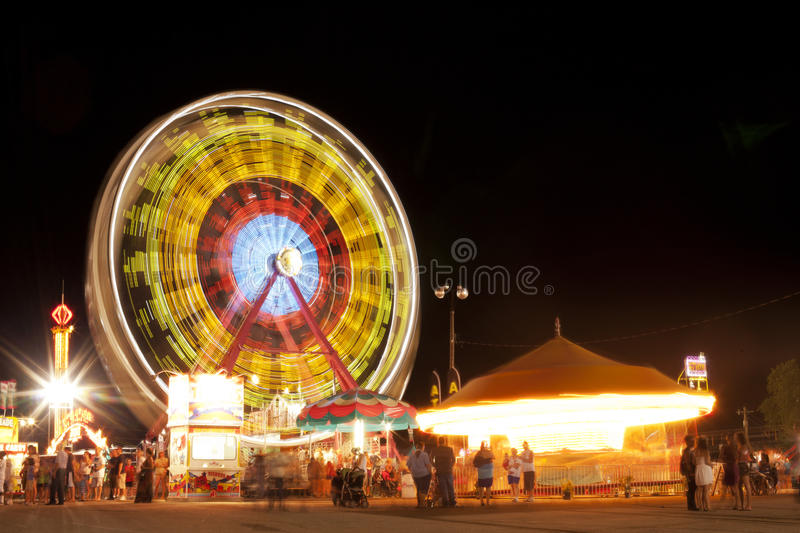 Ferris Wheel at County Fair royalty free stock images