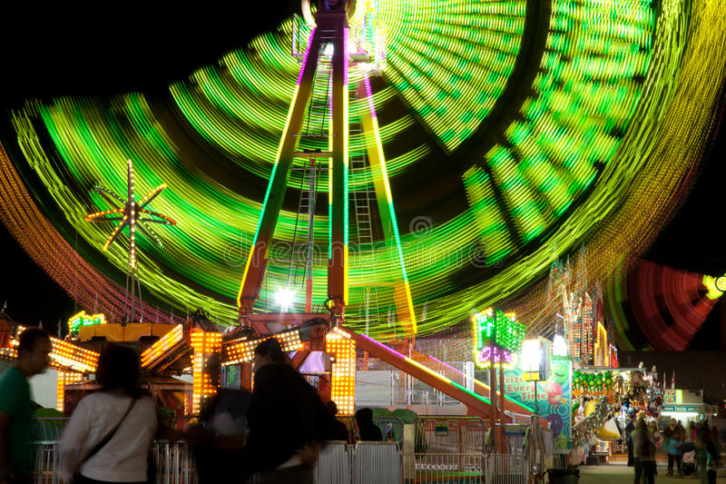 Ferris Wheel at the Date Festival Riverside County Fair Ride The Zipper. Rides at the Date Festival in Southern California, also named the Riverside County Fair royalty free stock photography
