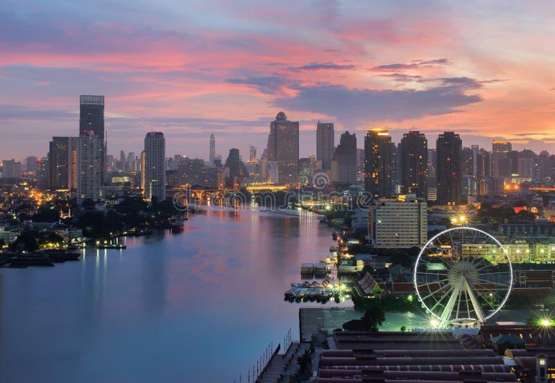 Ferris Wheel em Banguecoque, Asiatique o beira-rio em Banguecoque fotos de stock royalty free
