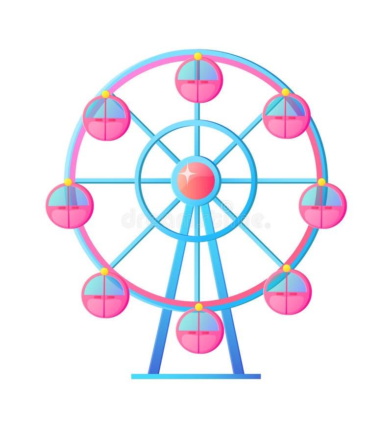 Ferris Wheel en el vector de la atracción del parque de atracciones libre illustration