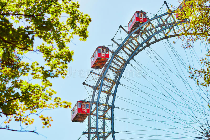 Ferris Wheel famoso de Viena foto de stock