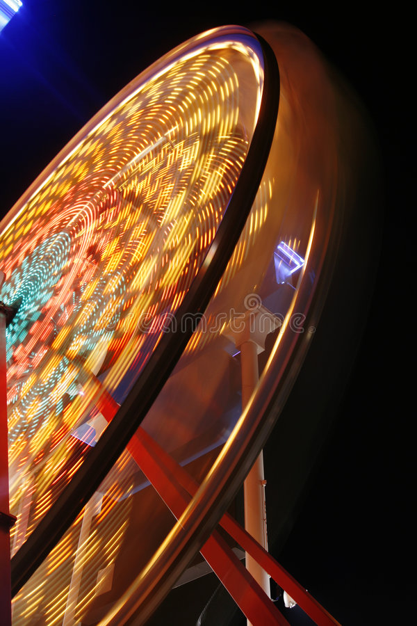 Download Ferris wheel in full spin stock image. Image of rotate - 2584447