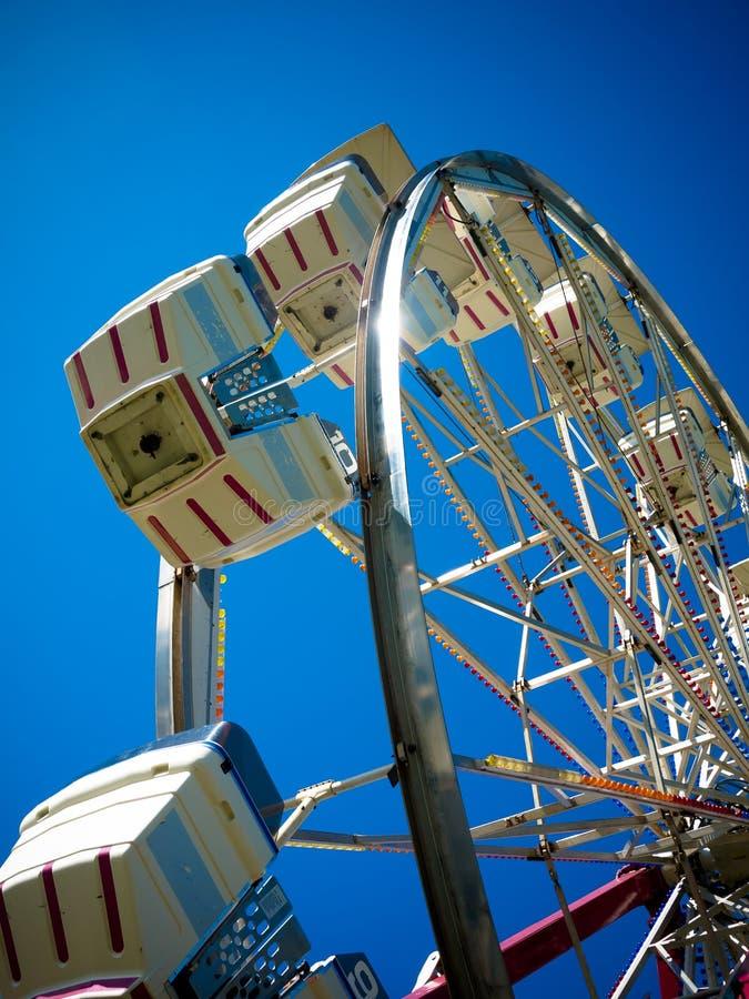 Ferris Wheel Fun. A Ferris wheel amusement ride at a country fair, the Tunbridge World's Fair in Vermont stock photos
