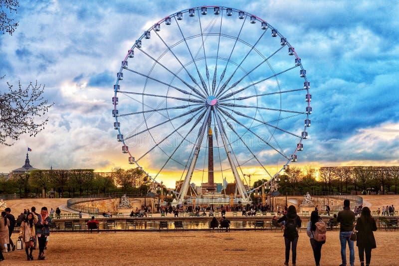 Ferris Wheel gigante en París, Francia 2018 imagen de archivo libre de regalías