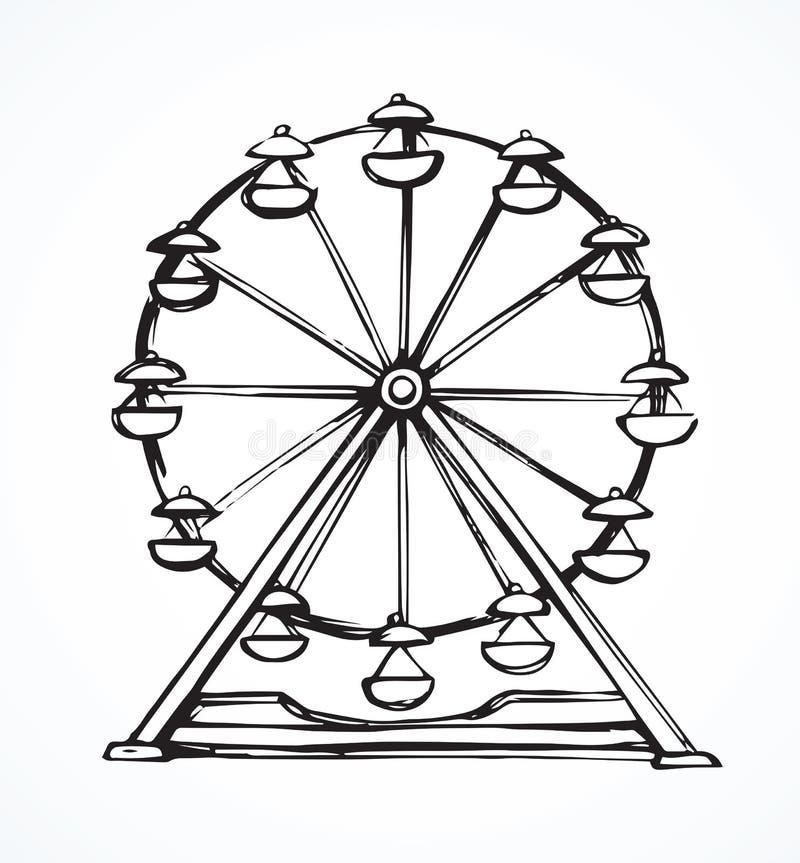 Ferris Wheel Gráfico del vector ilustración del vector