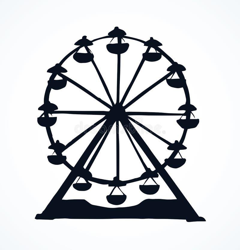 Ferris Wheel Gráfico del vector stock de ilustración