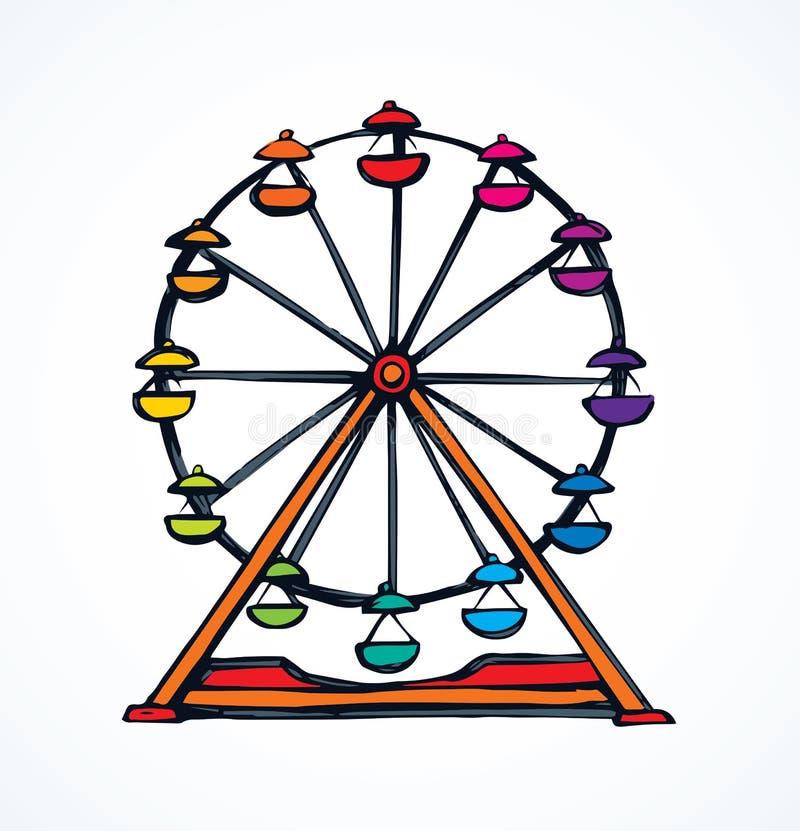 Ferris Wheel Gr?fico del vector libre illustration
