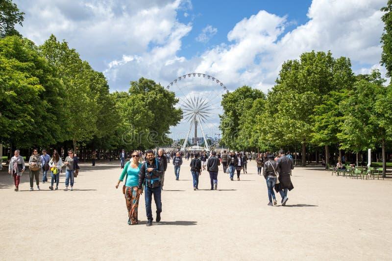 Ferris Wheel grande em Paris foto de stock