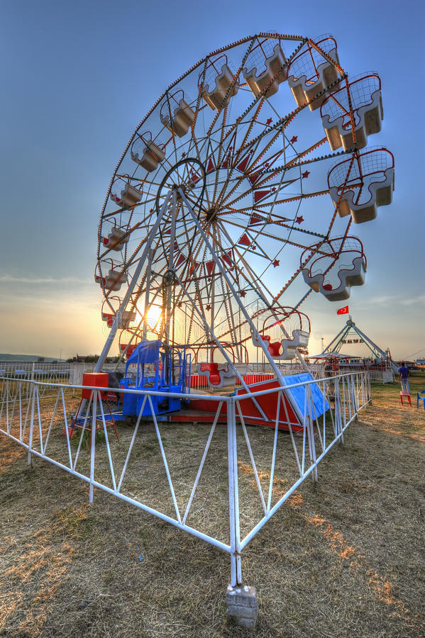 Ferris wheel HDR royalty free stock images