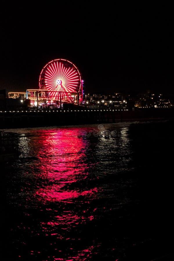 Ferris wheel heart reflection royalty free stock photography