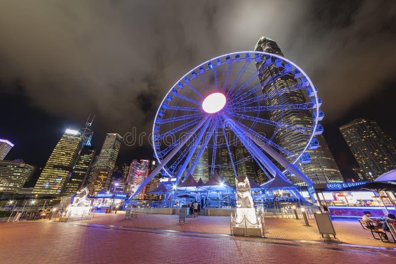 Ferris Wheel in Hong Kong City immagini stock