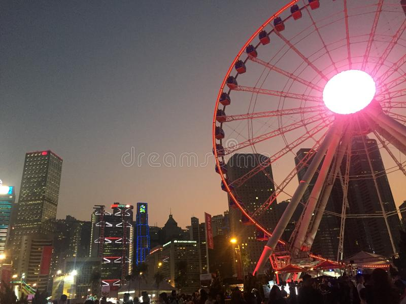 Ferris wheel of Hong Kong royalty free stock images