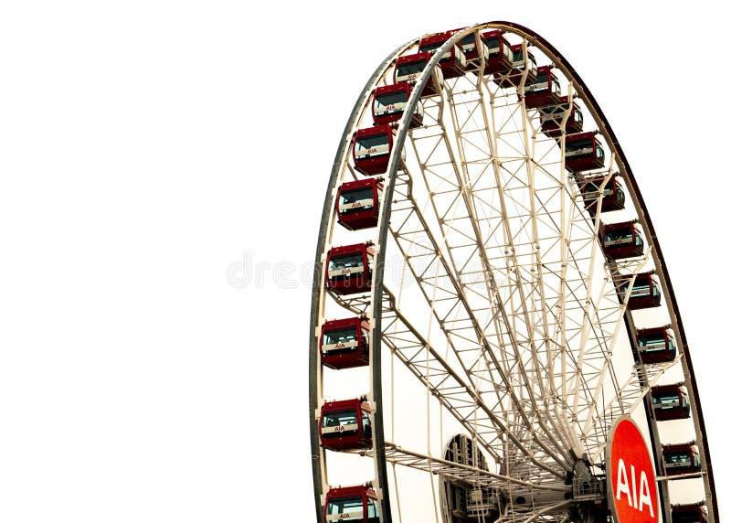 The ferris wheel in Hongkong Central stock photo