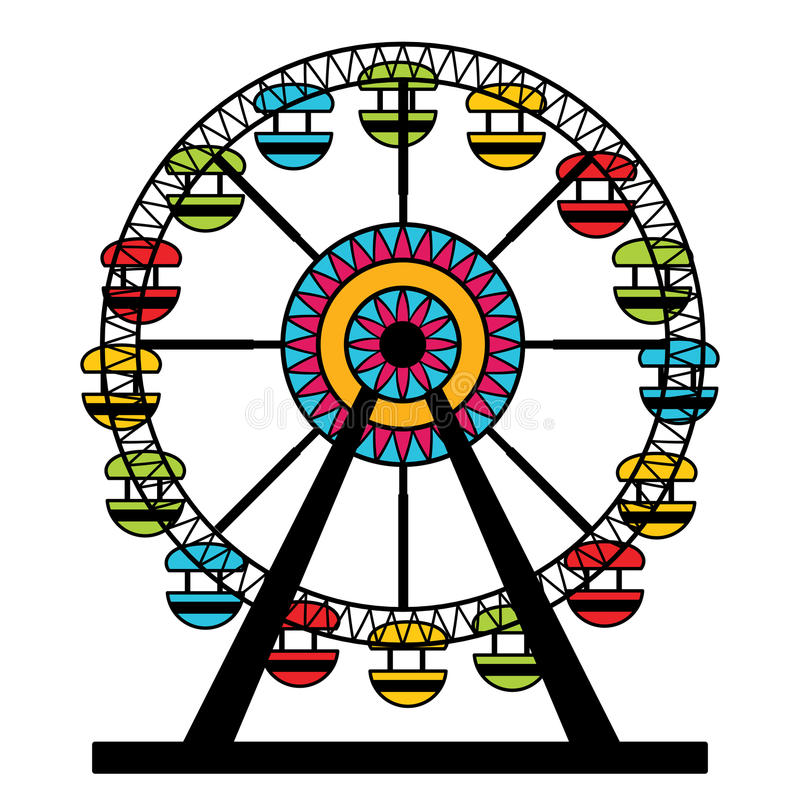 Ferris Wheel Icon abstracto ilustración del vector