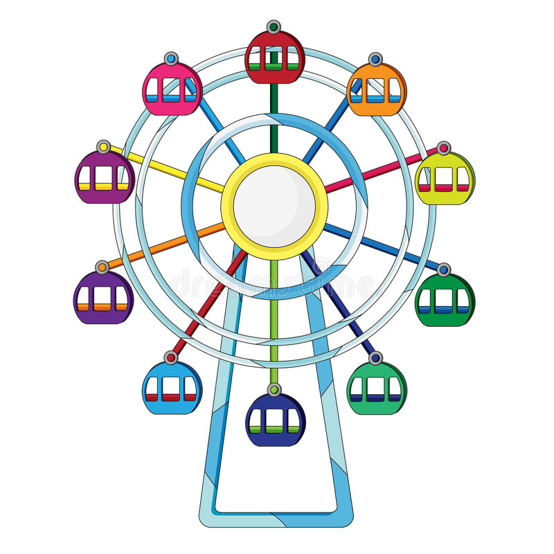 Free Ferris Wheel Illustration Royalty Free Stock Images - 7302319