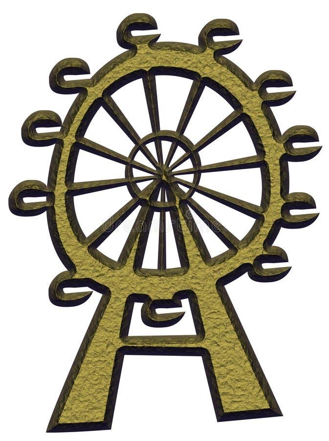 Ferris Wheel. Image of the Ferris wheel on white background royalty free illustration