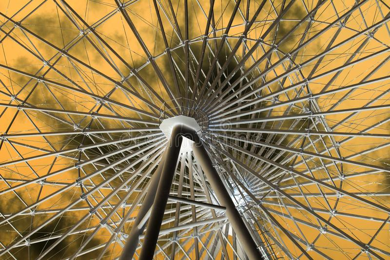 Ferris wheel in inversion stock photography