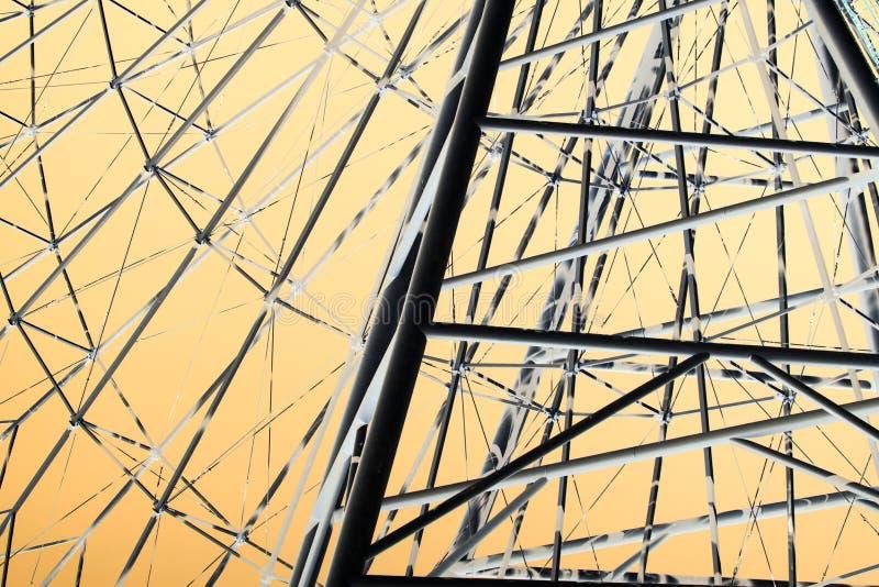 Ferris wheel in inversion royalty free stock image