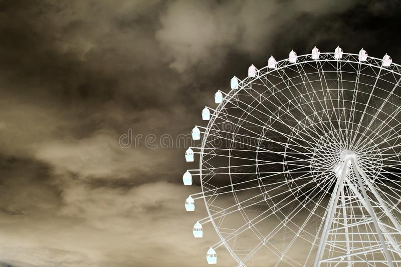 Ferris wheel in inversion royalty free stock images