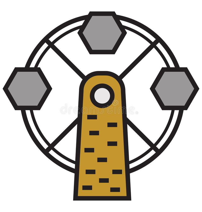 Ferris Wheel Isolated Vector Icon que puede ser modificado o corregir fácilmente libre illustration