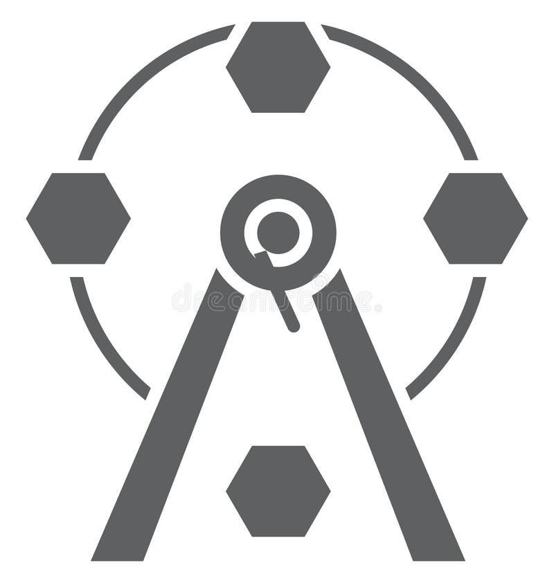 Ferris Wheel Isolated Vector Icon que puede ser modificado o corregir fácilmente stock de ilustración
