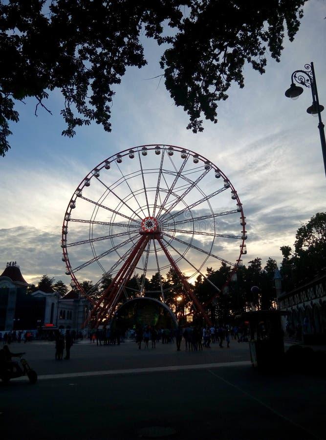 Ferris wheel in Kharkov stock photography