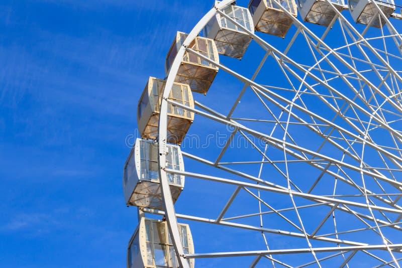 Ferris Wheel at Kontraktova Square in Kiev stock photo