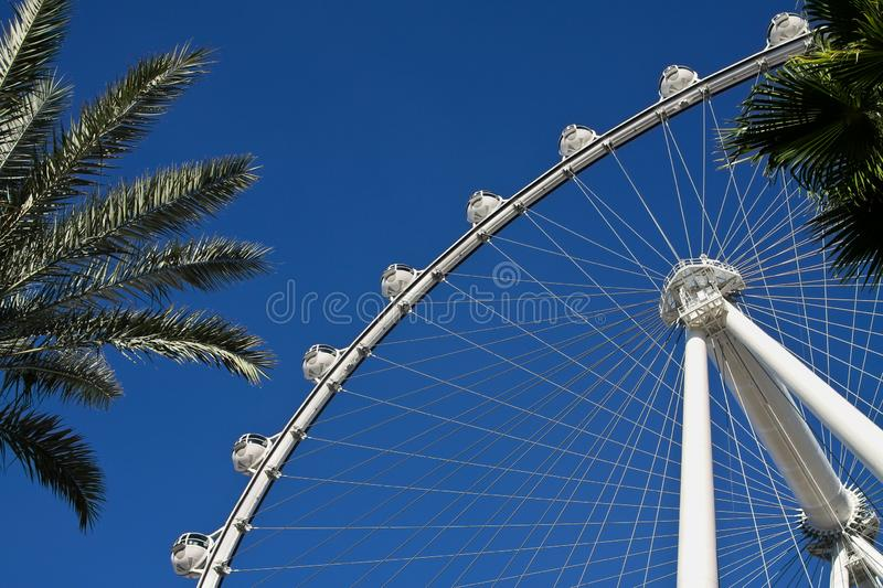 Ferris Wheel in Las Vegas on a background of blue sky stock photos