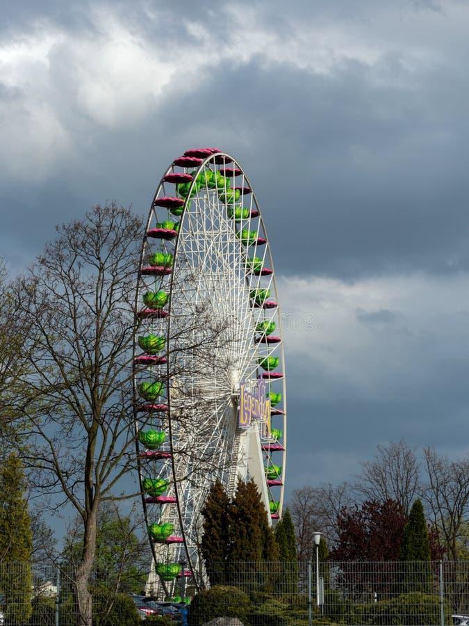 Ferris Wheel Legendia, parque Silesian imagem de stock royalty free