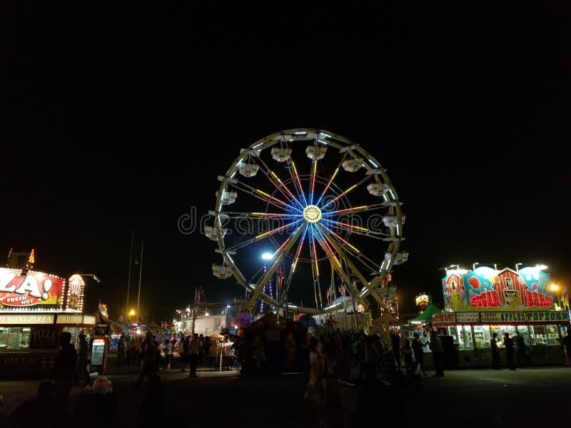 Ferris Wheel Lights royalty free stock images