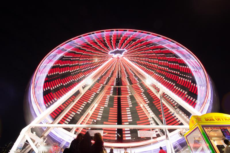 Ferris wheel with lights royalty free stock images
