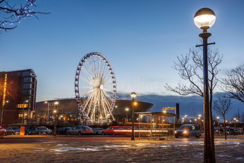 Ferris Wheel Liverpool fotos de archivo
