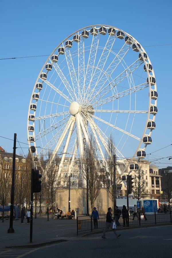 Ferris Wheel a Manchester fotografia stock libera da diritti