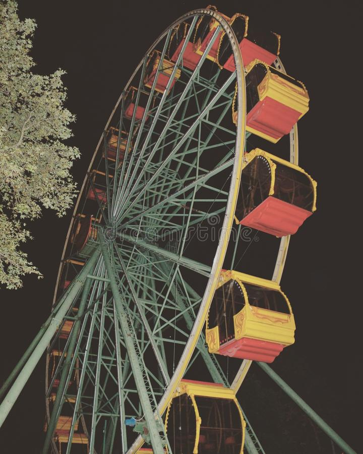 The ferris wheel stock photography