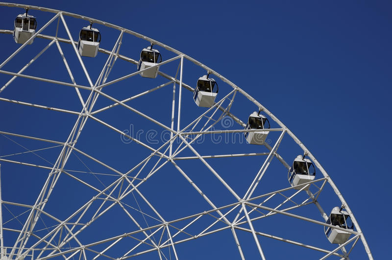 Ferris wheel 65 meters high. Park of October revolution. Rostov-on-Don, Russia.  royalty free stock photography