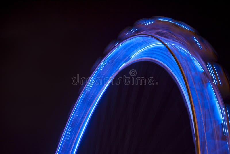 Ferris wheel motion royalty free stock image