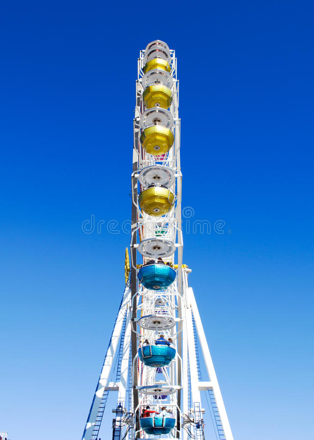 Ferris Wheel on Munich`s Theresienwiese royalty free stock image