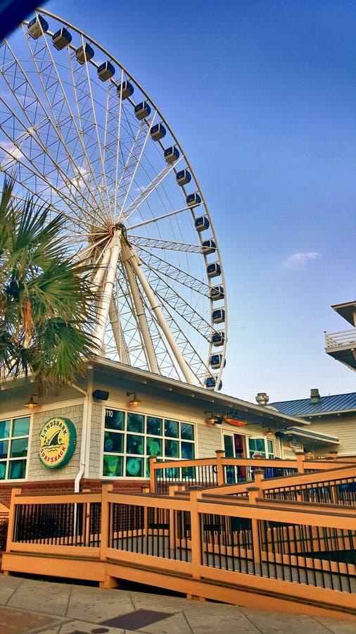Ferris wheel Myrtle Beach stock photo